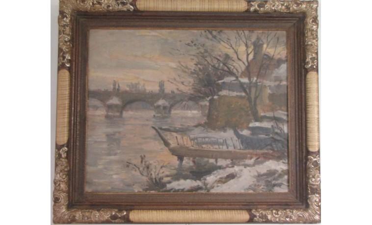 Sk795 – Obraz Nábřeží u Karlova mostu