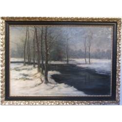 Sk792 – Obraz Zimní řeka