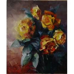 Sk684 – Obraz Zlatá růže
