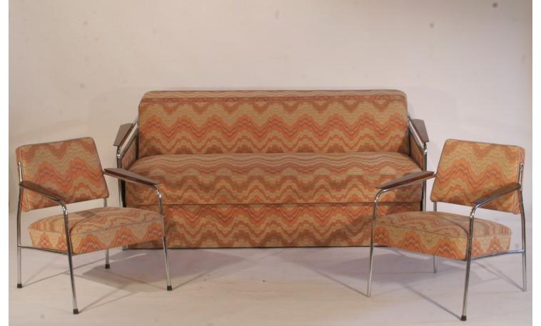Sk317 – Rozkládací sofa + 2 křesla