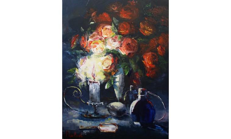 Sk656 - Obraz Zátiší s růží