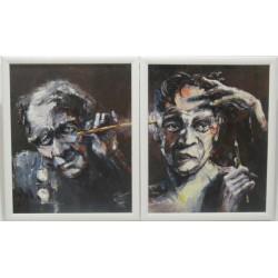 Sk1024  - Párové obrazy Učitel a žák