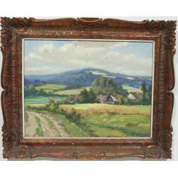 Ko87 -Obraz Krajina s vesnicí