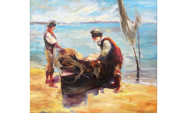 Sk1101 - Obraz Rybáři