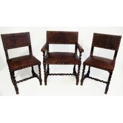 Sk945 – Křeslo, 2x židle
