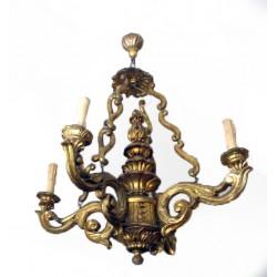 Sk92 – Dřevěný lustr svíčkový