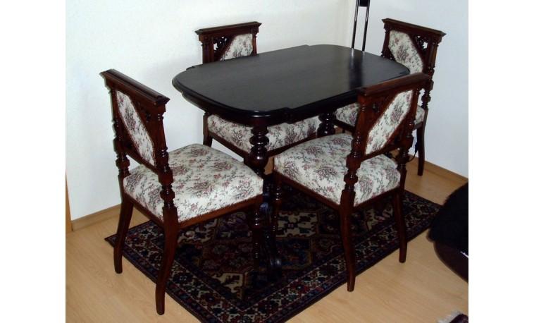 K98 - Komplet - stůl, 2x křeslo, 4x židle