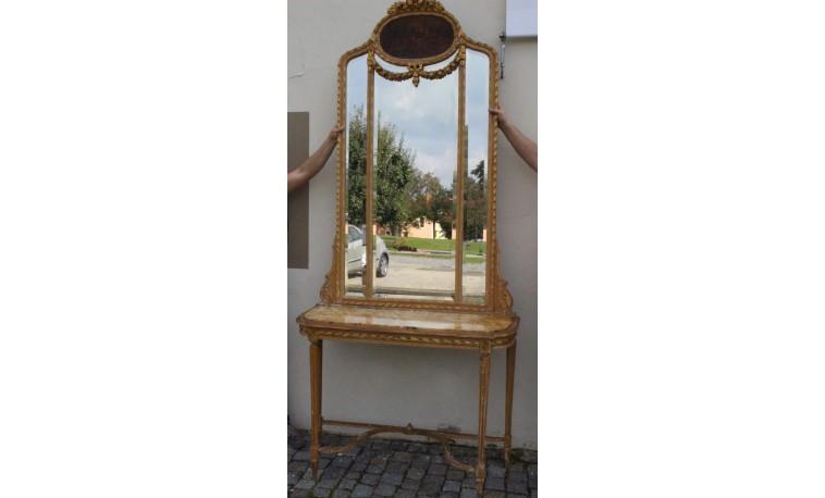 Sk1202 - Konzolový stůl se zrcadlem