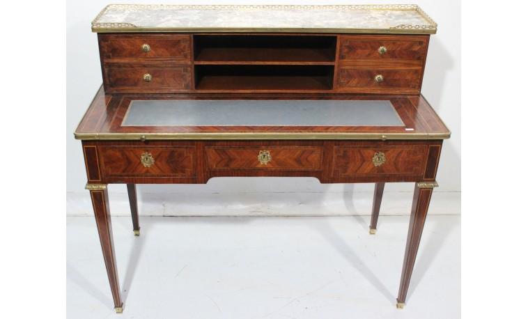 Sk1236 - Stůl psací s nástavbou Louis Philippe