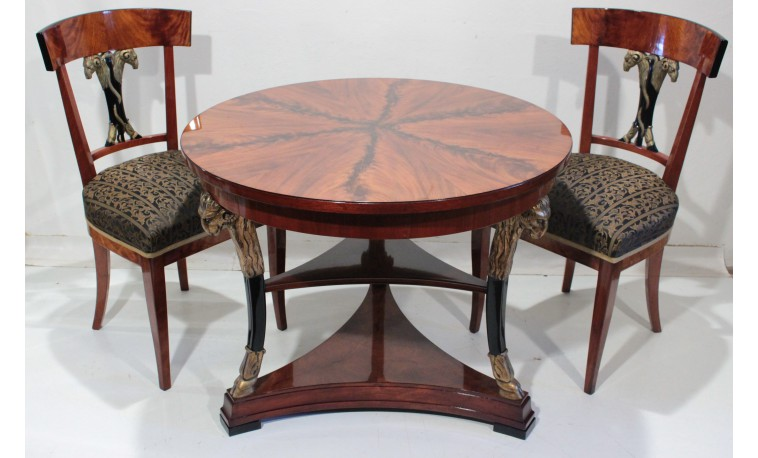 Sk1276 - Stůl, 2x židle, 2x křeslo